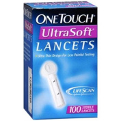 OneTouch UltraSoft Lancets 100 Each