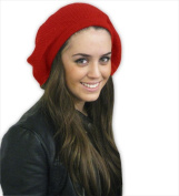 CoverYourHair 50076 Red Year Round Crochet Cotton Beret