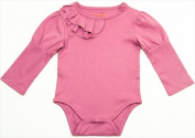 Klever Kids FW12-I24-DUSTYROSE-3-6 Baby Girl Juliet Onsie 3-6 Months Dusty Rose