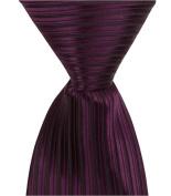 Matching Tie Guy 4306 L8 - 24cm . Zipper Necktie - Purple With Black Pinstripe 6 to 18 Month