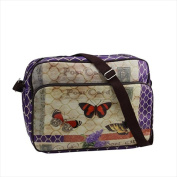 NorthLight 37cm . Decorative Purple Butterfly Garden Design Bag & Purse With Strap