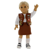Girl Scout Brownie Inspired Doll Outfit for American Girl and 46cm Dolls