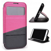 Magenta / Grey Slide Auto Answer Stand Case for for for for for for for for for for for Samsung Galaxy S4