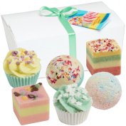 "Gift Set - Set of 6 BRUBAKER Cosmetics Bath Bombs ""Sweets For My Sweet"" Handmade & Natural"