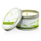 iKOU Eco-Luxury Aromacology Natural Wax Candle Tin - Calm (Lemongrass & Lime) 230g240ml