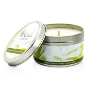 iKOU Eco-Luxury Aromacology Natural Wax Candle Tin - Zen (Green Tea & Cherry Blossom) 230g240ml