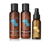 Silk Oil of Morocco Intense Moisture Shampoo and Intense Moisture Conditioner Set (100ml each) WITH SILK OIL OF MOROCCO ARGAN OIL HAIR SERUM (60ml) (VALUE PACK SAVING) - Shampoo and Conditioner - Sulphate Free Shampoo, Argan Oil Conditioner, Natural Co ..