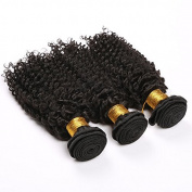 Sexyqueenhair 3 Bundles 70cm Malaysian Afro Kinky Curly Hair Extensions 300gram Natural Colour#1B