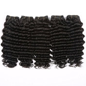 Sexyqueenhair Brazilian jerry curl Afro Kinky Curly Hair Weaves 300gram Natural Colour#1B