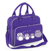 Junior Dance Bag Shoulder Bag Carrying case Casual pack with Name and Personal picture - Purple / Light Grey
