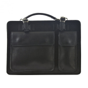 CTM Unisex's Business bag, briefcase, organiser in italian genuine leather made in Italy D7006 - 35x25x12 Cm
