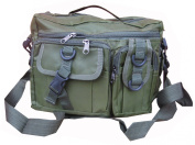 Mens Army Combat Military Travel Shoulder Messenger Satchel Bag Surplus New Green