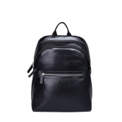Backpack men breathable in soft leather with 2 straps padded Gear Band Black