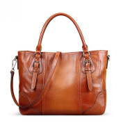 Meijia Women's Genuine Soft Leather Large Tote Shoulder Bag Commuter Female Bag