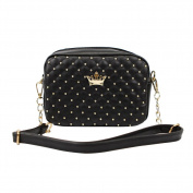 CHIC-CHIC 1PC Shoulder Bag Cross body Women Crown Pearl PU Leather