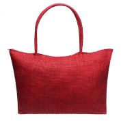 Amison 1PC Women Simple Candy Colour Large Straw Beach Bags Casual Shoulder Bag