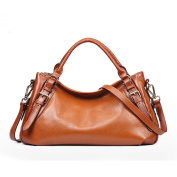 Meijia Women's Soft Genuine Leather Leisure Hobo Shoulder Bag Retro Body Handbags