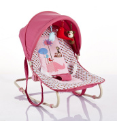 Cute Baby - Pink - Spotted Rocker With Canopy And Toys