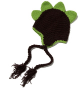 Happy Cherry Newborn Baby Girl Boy Hand Crochet Knit Costume Photo Photography Prop Outfits Soft Toddler Dinosaur Cap - Brown