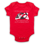 Inspired by Beyonce Single Ladies Put A Ring On It Unofficial Baby Grow