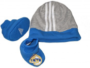 Adidas Real Madrid grey blue hat boot toddlers football gift set boxed