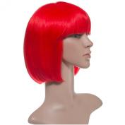 New Women Club Nightout Hair Full Head Multi Colour Party Wigs Colour Bob/6367-DF1