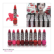 24 x Lipstick Set Display Box 12 Different Shades Full Size Wholesale UK