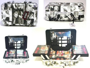 Paris Memories Auto Case Vanity Case Beauty Contouring Kit Cosmetic Set Gift Travel Make Up Box Train Storage 31 Piece
