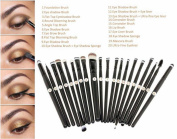 Beautyinside 20 Pcs Makeup Eye Brushes Cosmetic Set, Foundation Brush, Eye Shadow Brush, Eye Liner Brush, Lip Brush, Mascara Brush, Round Brush, Flat Brush, Concealer Brush