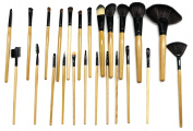 PuTwo Make up Brushes 24 Pcs Makeup Brush Set with Makeup Kit - Wooden