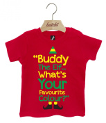 Buddy The Elf Whats Your Favourite Colour Christmas Popper Neck Baby T-Shirt