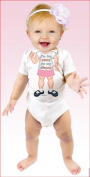 Just Add a Kid Baby Girls Infants 6 Months Bodysuit Babygrow - I'm Too Sexy for My Nappy