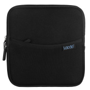 Lacdo Shockproof External USB CD DVD Writer Blu-Ray & External Hard Drive Neoprene Protective Storage Carrying Sleeve Case Pouch Bag With Extra Storage Pocket for Apple MD564ZM/A USB 2.0 SuperDrive / Apple Magic Trackpad / SAMSUNG SE-208GB SE-208DB SE- ..