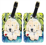 Carolines Treasures SS8271BT Golden Retriever Luggage Tags Pack - 2