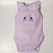 Little Ashkim BGCBS912 Ruffled Collar Sleeveless Bodysuit - Lilac 9-12 months