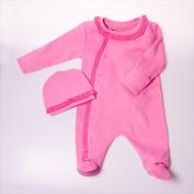 Little Ashkim BGRF69 Ruffle Footie - Pink 6-9 months