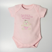 Little Ashkim BSCASMOMLP69 Cute As Mommy Girl Bodysuit - Pink 6-9 Months