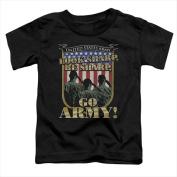Army-Go Army - Short Sleeve Toddler Tee Black - Medium 3T