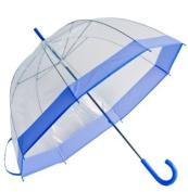 Elite Rain Frankford RB01-LAV Clear Bubble Umbrella Lavender Trim