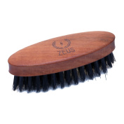Zeus 100% Boar Bristle Pocket Beard Brush for Men - Firm Bristle Small Beard Brush - Made in Germany