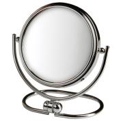 Jerdon Style MC310C 7.6cm . 10X-1X Folding Travel Mirror Chrome Includes Black Travel Pouch
