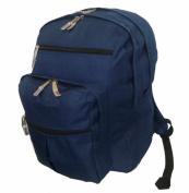 K-Cliffs 600D Polyester Multi Pockets Backpack 18 x 33cm x 22cm . Navy