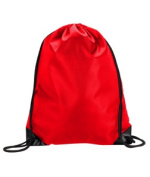 UltraClub 8886 Value Drawstring Pack - Red