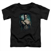 Arrow-Shirtless - Short Sleeve Toddler Tee Black - Small 2T