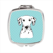 Carolines Treasures BB1148SCM Checkerboard Blue Dalmatian Compact Mirror 2.75 x 3 x .7.6cm .