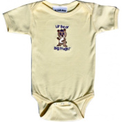 Lil Cub Hub 5CSSOGBY-612 Yellow Short Sleeve Onesie - Girl Bear 6-12 months