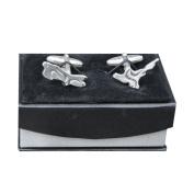 Luxury Handmade Fine Pewter North and South Island New Zealand Cufflinks, by William Sturt Fine Pewter