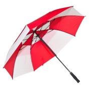 Elite Rain Frankford GF01-RW Fibreglass Golf Umbrella Red and White