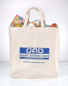 Superbagline QSB55 Natural Canvas Grocery Bag - Pack of 25