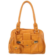 Ritz Enterprises JM6691-OR Chic Satchel With Belt Accent - Orange